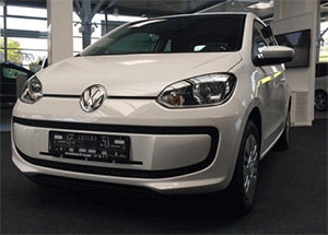 Die Front-Ansicht des VW up!