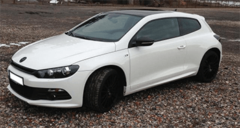 vw scirocco weiss